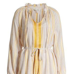 Lucky Brand Long Sleeve Peasant Dress